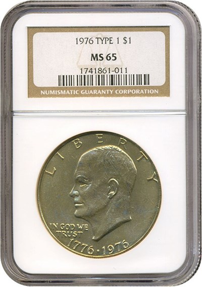 Image of 1976 $1 Ty.1 NGC MS65