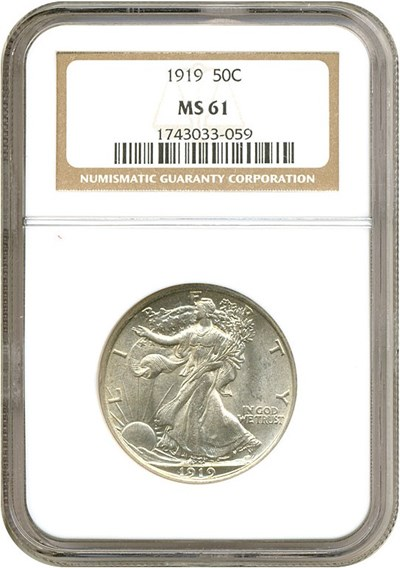 Image of 1919 50c  NGC MS61