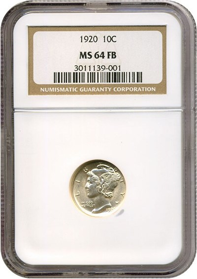 Image of 1920 10c  NGC MS64 FB
