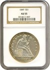 Image of 1849 $1  NGC AU55