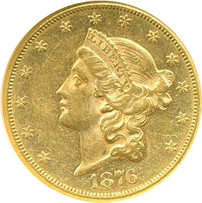 Image of 1876-CC $20  NGC AU55