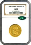 Image of 1798 $5 Large 8, 13 Stars NGC/CAC AU53