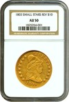 Image of 1803 $10 Small Star Reverse NGC AU50