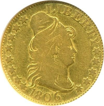 Image of 1806 $5  NGC/CAC F15