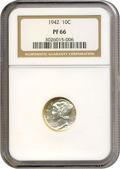 Image of 1942 10c  NGC Proof 66