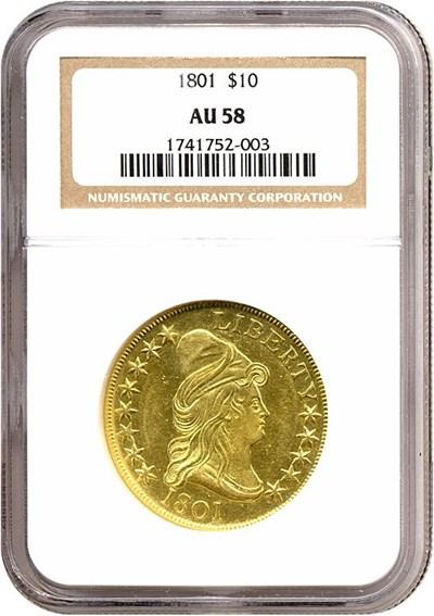 Image of 1801 $10  NGC AU58