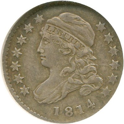 Image of 1814 10C Small Date NGC AU58 (JR-1)