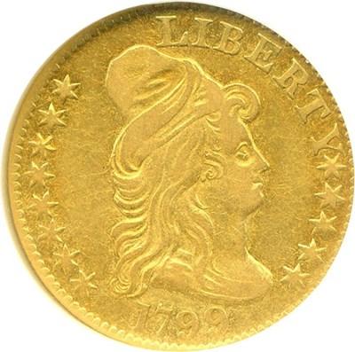 Image of 1799 $5  NGC AU50
