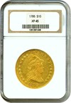 Image of 1795 $10 '13 Leaves' NGC XF45