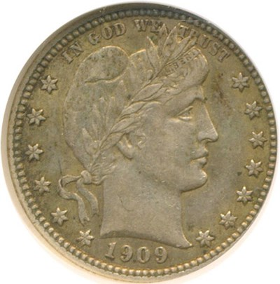 Image of 1909 25c  NGC AU55