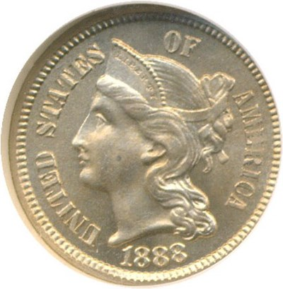 Image of 1888 3cN  NGC Proof 64