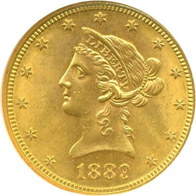 Image of 1889-S $10  NGC MS63