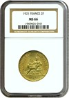 Image of France: 1921 2 Fr  NGC MS64