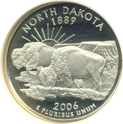 Image of 2006-S 25c North Dakota NGC Proof 69 UCameo