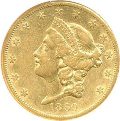 Image of 1860-S $20  NGC XF45