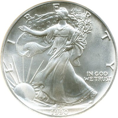 Image of 1990 $1 Silver Eagle NGC MS69