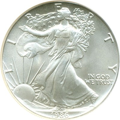 Image of 1986 $1 Silver Eagle NGC MS69