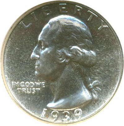 Image of 1939 25c  NGC Proof 65