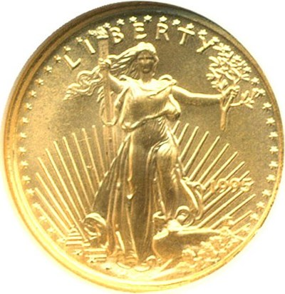 Image of 1995 $5 Gold Eagle NGC MS69