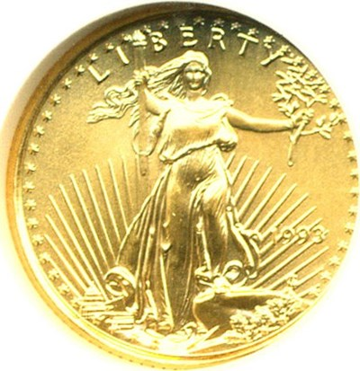 Image of 1993 $5 Gold Eagle NGC MS69