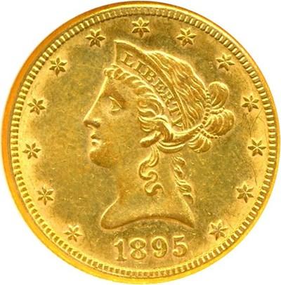 Image of 1895-O $10  NGC AU53