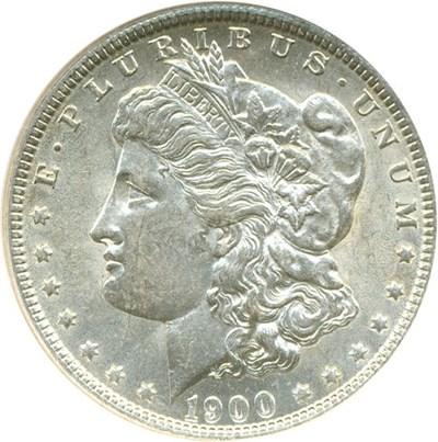 Image of 1900-O $1  NGC AU58