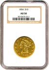 Image of 1854 $10  NGC AU50