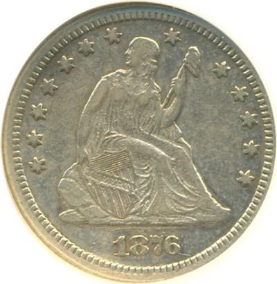 Image of 1876-CC 25c  NGC XF45