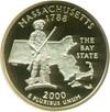 Image of 2000-S 25c Massachusetts NGC Proof 69 UCameo