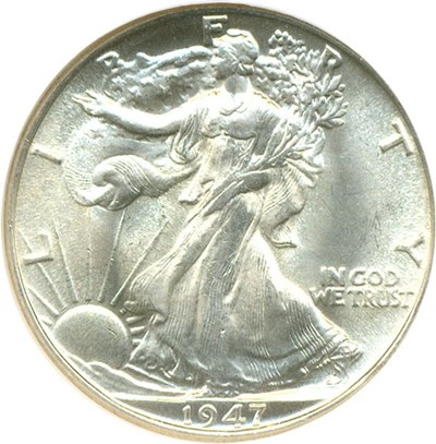 Image of 1947 50c  NGC MS65 ex: Nevada Silver Collection