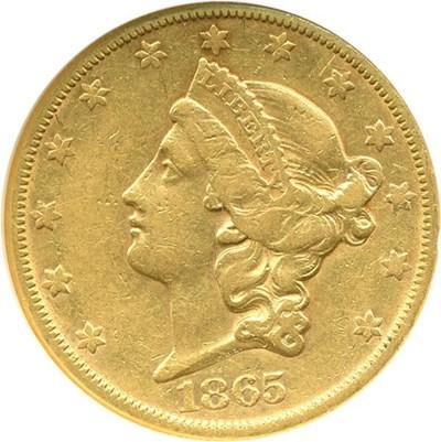 Image of 1865-S $20  NGC XF45