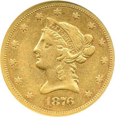 Image of 1876-S $10  NGC VF25