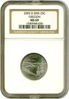 Image of 2005-D 25c Oregon - Satin Finish NGC MS69