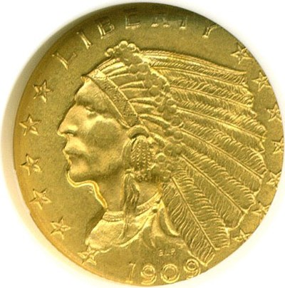 Image of 1909 $2 1/2  NGC MS61