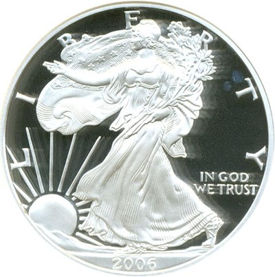 Image of 2006-W $1 Silver Eagle NGC Proof 70 UCameo
