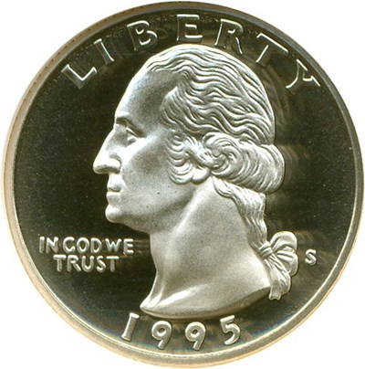 Image of 1995-S 25c  NGC Proof 70 UCameo