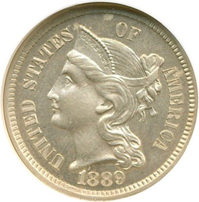 Image of 1889 3cN  NGC Proof 64