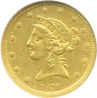 Image of 1839 $5  NGC AU55