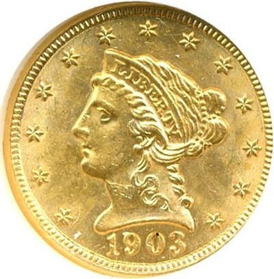 Image of 1903 $2 1/2  NGC MS62