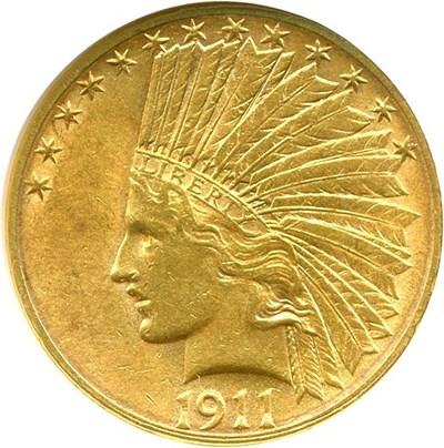 Image of 1911-S $10  NGC AU58