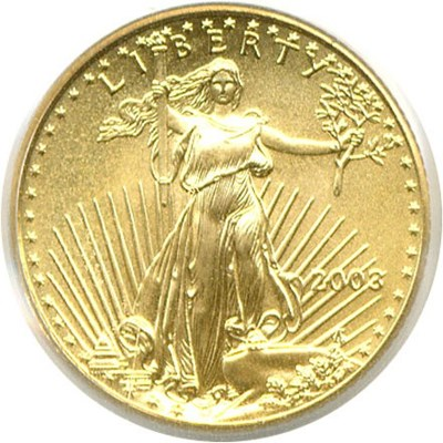 Image of 2003 $5 Gold Eagle PCGS MS69