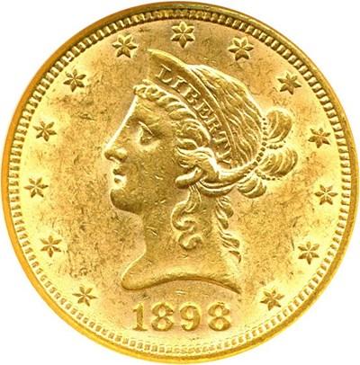Image of 1898 $10  NGC MS60