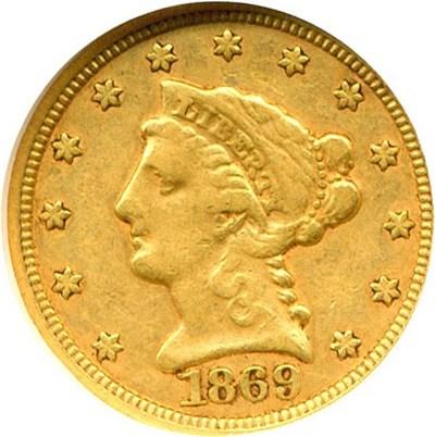 Image of 1869-S $2 1/2  NGC XF40