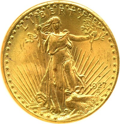 Image of 1927 $20  NGC MS64