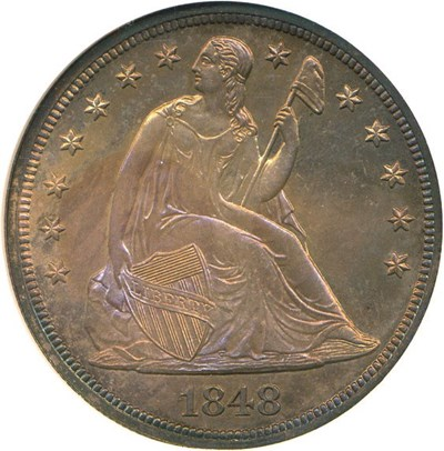 Image of 1848 $1  NGC Proof 66
