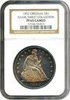 Image of 1852 $1 Original NGC Proof 65 Cameo ex: Share/Sweet Collection