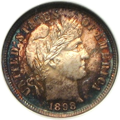 Image of 1898 10c  NGC MS65 * Color *