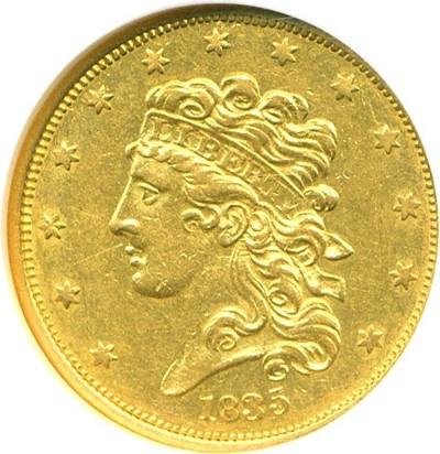 Image of 1835 $5  NGC AU55
