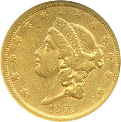Image of 1863-S $20  NGC XF45