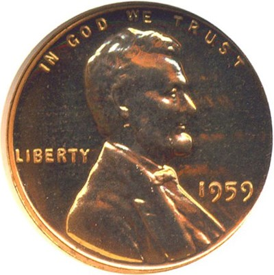 Image of 1959 1c  NGC Proof 67 RD